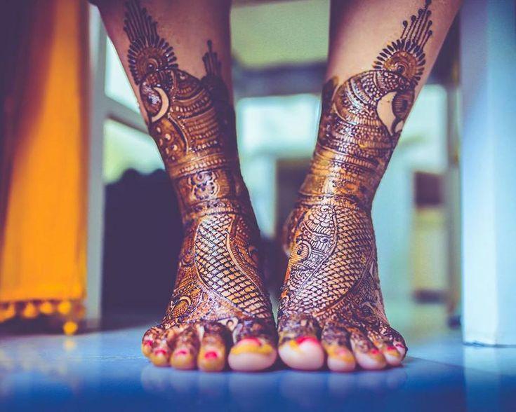 Lattice mehendi foot designs for WeddingSutra. Photo Courtesy- The Cheesecake Project