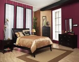 Panels Are Beautiful Purple Sort Of And Gold With Dark Brown Furniture