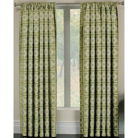 allen roth callendale 84in l light filtering geometric green rod pocket window curtain panel