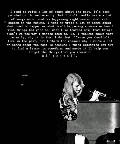 "untouchablelikewonderland: """"Taylor's speech before playing 'All Too Well' on the RED Tour in Saitama, Japan "" """