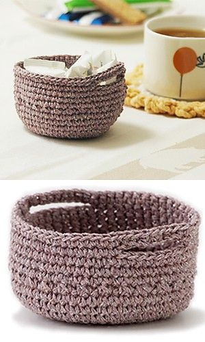 wonderful crochet basket...now i only need to learn to knit and crochet...