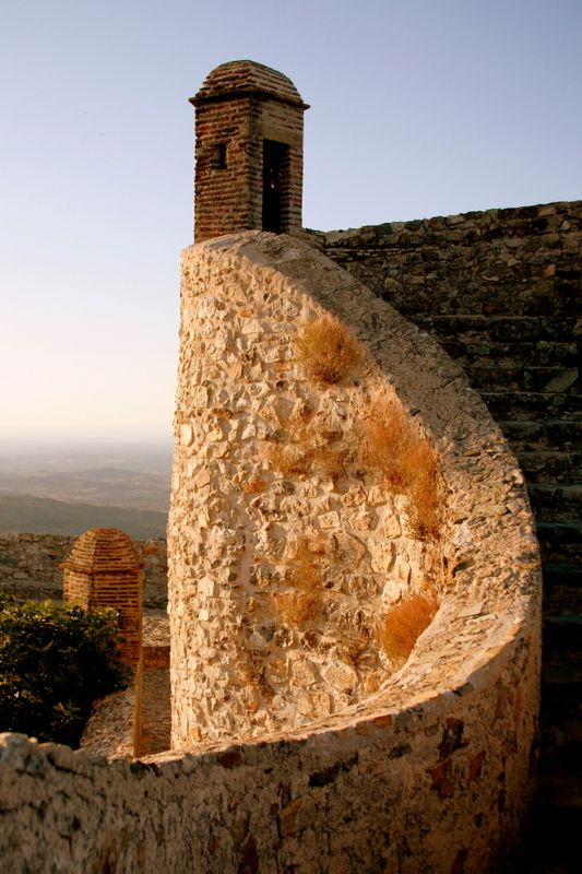 Curved Castle wall - Marvao -  Portugal