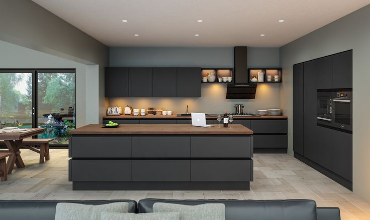Zurfiz by BA Components. Contemporary Supermatt Graphite Zurfiz Kitchen by BA. Find your local BA Components retailer today.