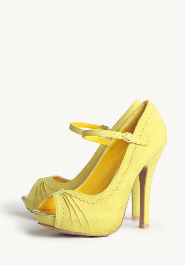ShopRuche.com Brighter Than Sunshine Heels