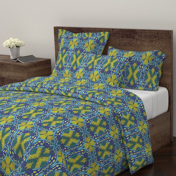 Wyandotte Duvet Cover featuring Nudicalifornica by joancaronil | Roostery Home Decor