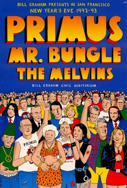 Primus - Mr. Bungle - Melvins. If I could go back in time. This is where i'd go