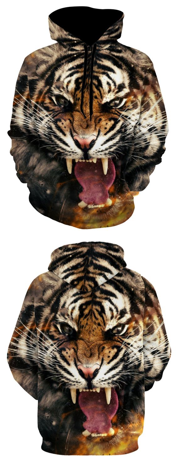 Tiger Face Animal 3D Print Hoodie Tiger face, Hoodie