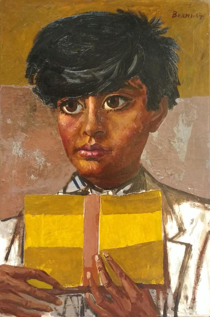 """Berni, Antonio. """"Joven"""" Óleo 73 x 50 cm. Año 1957"""
