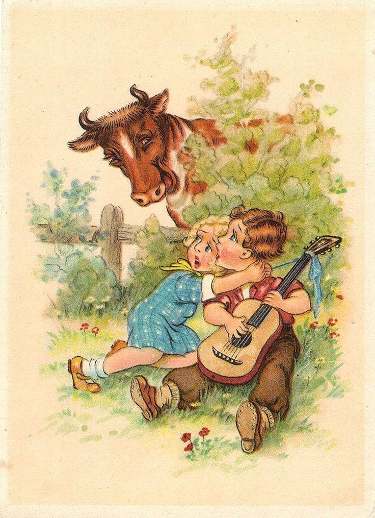 Немецкие старые открытки с детьми, открытка дочери мамы