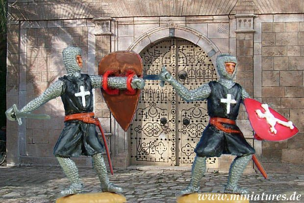 Chevaliers Hospitaliers de l'Ordre Souverain Militaire Hospitalier de Saint-Jean de Jérusalem, 1/32 Figurines Timpo