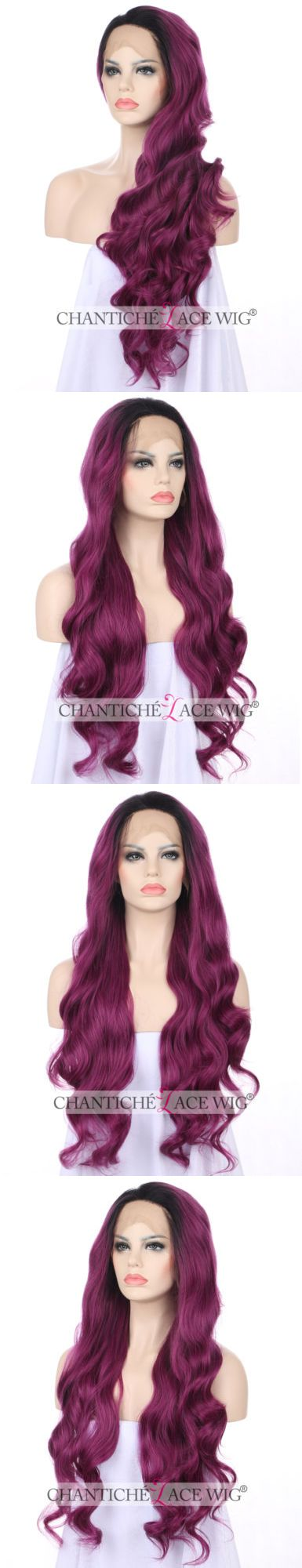 Wigs and Hairpieces: Purple Long Wavy Synthetic Hair Lace Front Wigs For Women Best Heat Friendly Wig -> BUY IT NOW ONLY: $42.99 on eBay!
