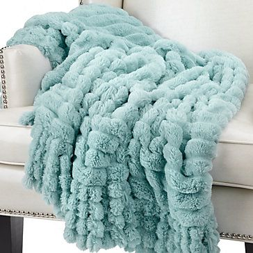 Colorfully luxurious aquamarine Omni Throw, $59.95 #ZGallerie