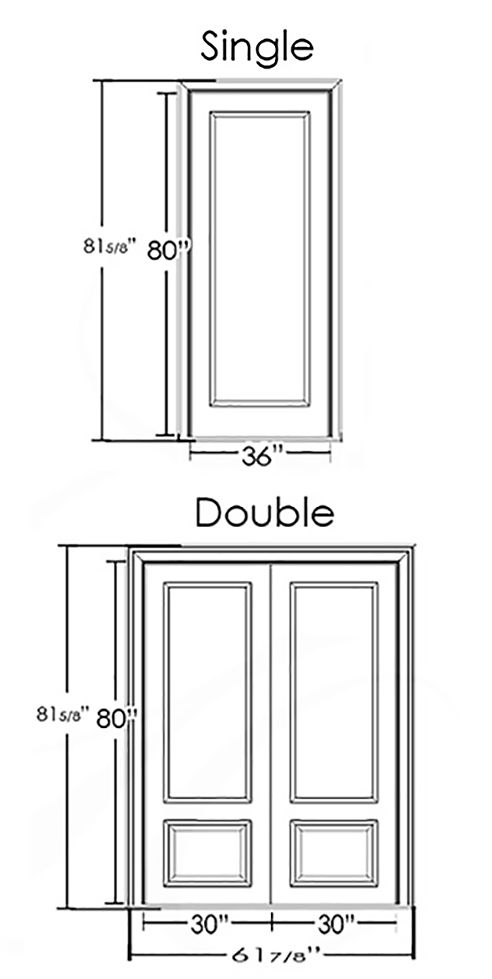 What Is The Standard Size Of Double Entry Doors And Interior