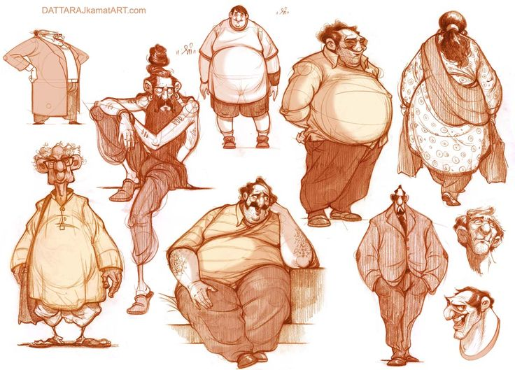 DATTARAJ KAMAT Animation art: Some more character explorations...