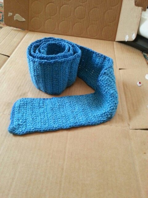 Cachecol azul turquesa