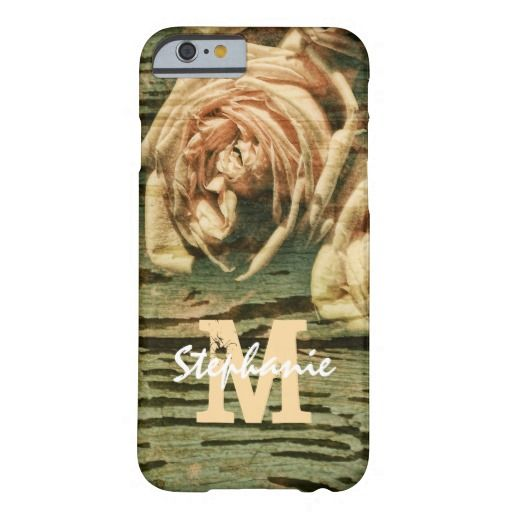 rustic shabby chic roses monogram barely there iPhone 6 case #shop #cases #iphoone6case