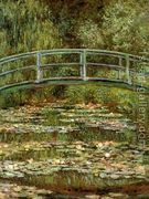 The Water Lily Pond Aka Japanese Bridge  by Claude Oscar Monet