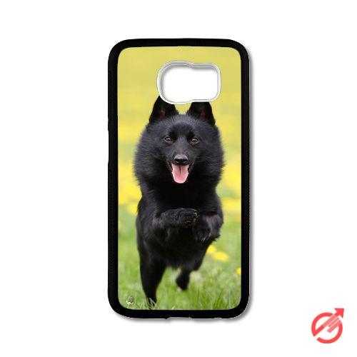 Schipperke Dog In Action Samsung Cases #iPhonecase #Case #SamsungCase #Accessories #CellPhone #Cover #samsung