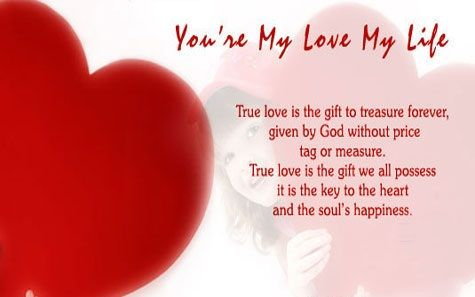 You're my love my life poem