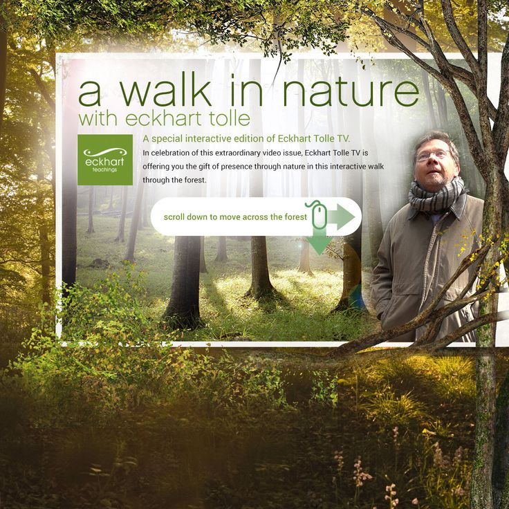 """A Walk In Nature With Eckhart Tolle"""
