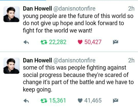 Dan being an intellectual and sharing his thoughts on Donald Trump being elected as P.O.T.U.S  translating: Dan being smart as fuck