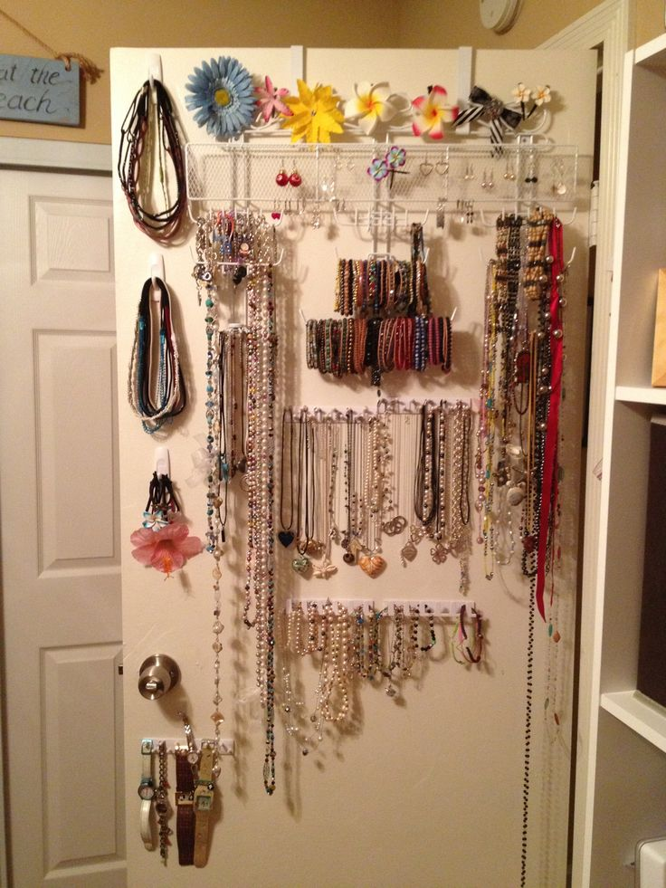 Diy Over The Door Jewelry Organizer Complete Using