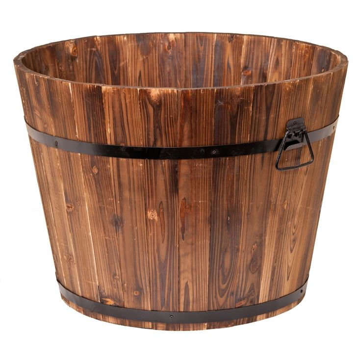 Large Wooden Barrel Planters: 1000+ Ideas About Whiskey Barrel Planter On Pinterest