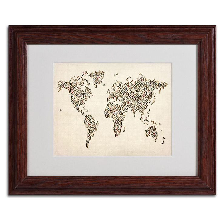11 in. x 14 in. Ladies Shoes World Map Canvas Art