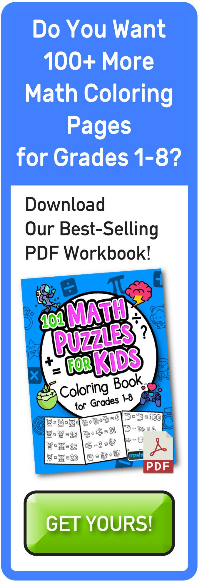 Free Math Puzzles Mashup Math Maths Puzzles Free Math Math Riddles With Answers [ 1970 x 677 Pixel ]