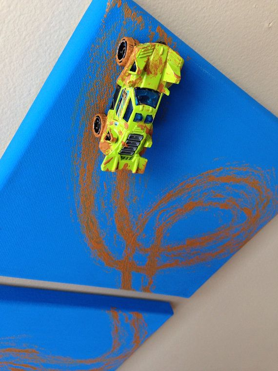 Monster Truck Hot Wheels Triptych by GraceFourThirteen on Etsy, $20.99