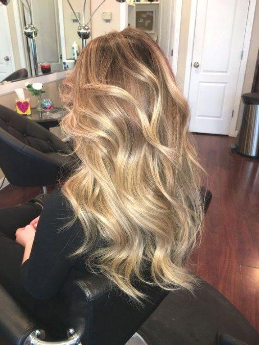 Kapsel Trend 2018 Warme Haarkleur Blond In Honey Blonde Balayage
