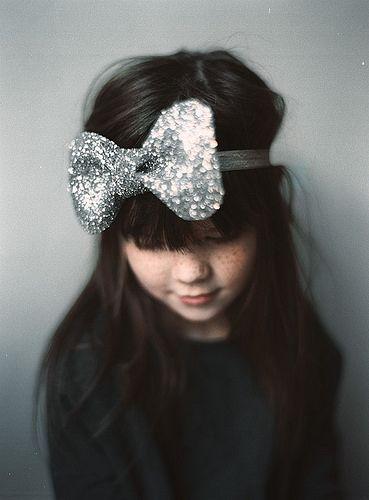 Oversized glitter bow