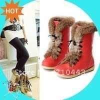 Aliexpress.com : Buy 2013 plus size brand women's fashion flats lace up snow boots  rabbit hair woman shoes for winter warm boots drop shipping from Reliable boots suppliers on ENMAYER CO., LIMITED $24.78