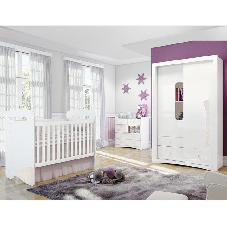 Comprar Quarto De Bebe Favo De Mel ~   quarto bebe completo linha favo de mel henn branco lino mel 7789 html