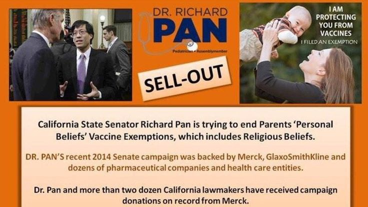 """It is a blatant conflict of interest for Senator Richard Pan to introduce bills which force vaccinations like SB277, when he has ties to the vaccine industry. Furthermore, Richard Pan is in violation of International law for introducing SB277 because The Nuremberg code of ethics states: """"1.) The voluntary consent of the human subject is absolutely essential. This means that the person involved should have legal capacity to give consent; should be so situated as to be able to exercise free…"""