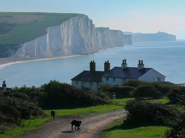 """We love this view of the Seven Sisters and Birling Gap which was featured in our blog """"Britain's Best Coastal Views"""""""