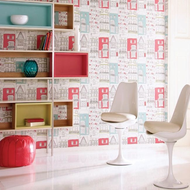 Harlequin Identity Brighton wallpaper available in 3 different colourways