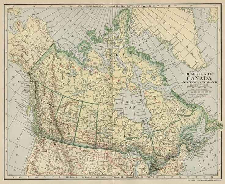 Dominion of Canada. Authentic 1906 (Dated) Engraved Color Map This color map ofCanada is dated 1906 on the face and was engraved and printed by the Matthews-Northrup Works of Buffalo, NY. The attached illustration is a fairly accurate representation of the map. | eBay!