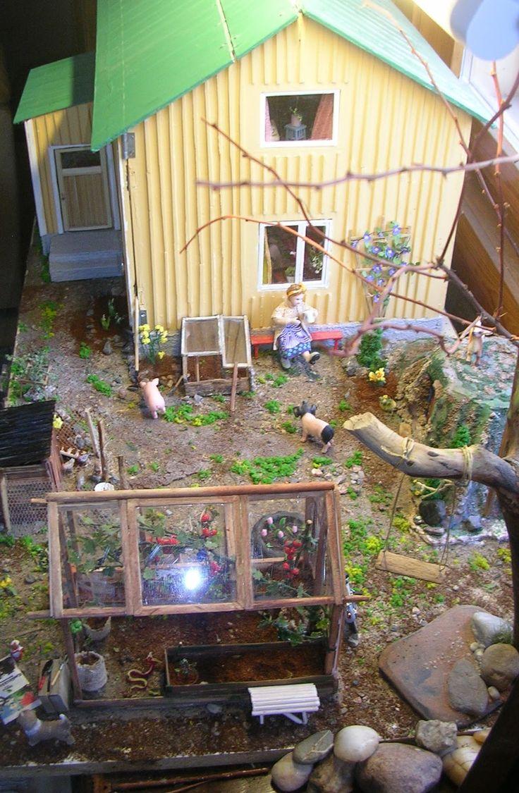 Rintamamiestalo Nro 50 - Alkukesän päivä - http://rintamamiestalo50.blogspot.fi/2015/05/alkukesan-paiva.html #nukkekoti #nukketalo #miniatyyri #miniature #dollhouse #Finnish .