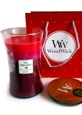 Woodwick Christmas Trilogy Peace & Joy Large Candle