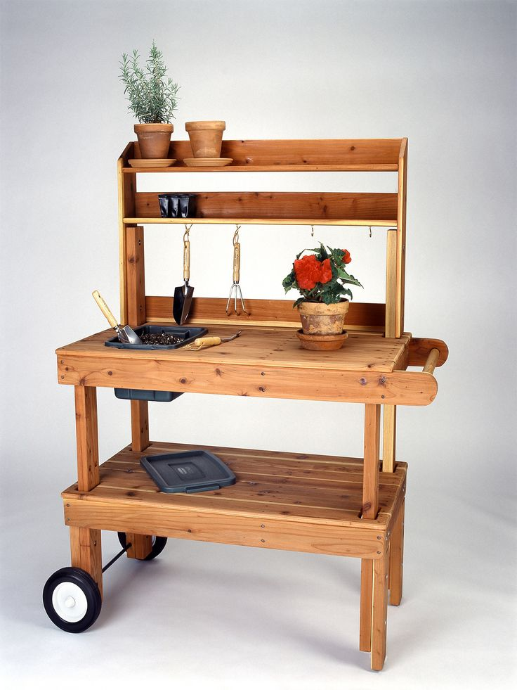 Crafted exclusively from locally harvested Western Red Cedar, the Western Red Cedar Heavy Duty Garden Cart comes with 100% stainless steel hardware, non-toxic and VOC-free wood sealer, heavy duty 8 in