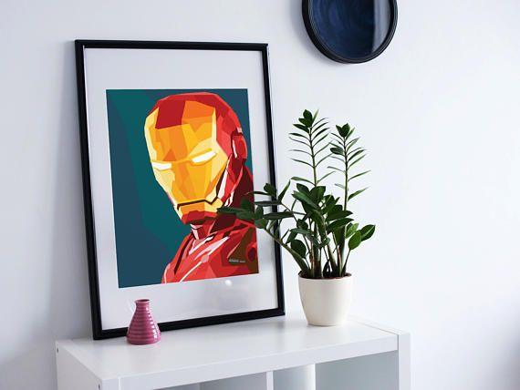 Iron Man Superhero Wall Art Print Poster Https://www.etsy.com