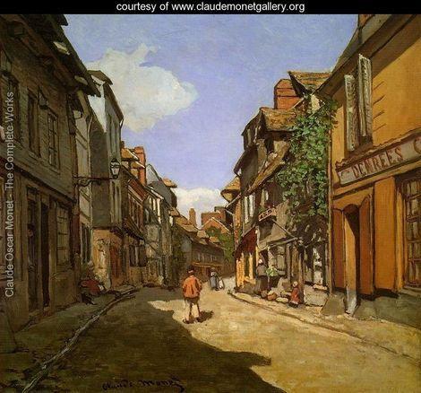 Le Rue de La Bavolle at Honfleur - Claude Oscar Monet - www.claudemonetgallery.org