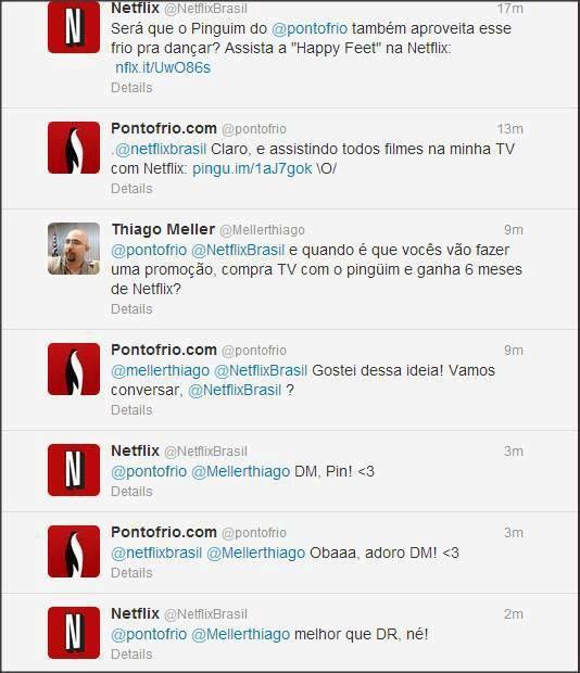 Excelente SAC 2.0 entre Netflix, Pontofrio e cliente.