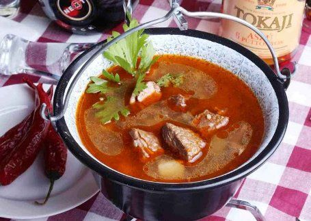 Hungarian goulash soup | Culinary Hungary Budapest Home Cooking Class
