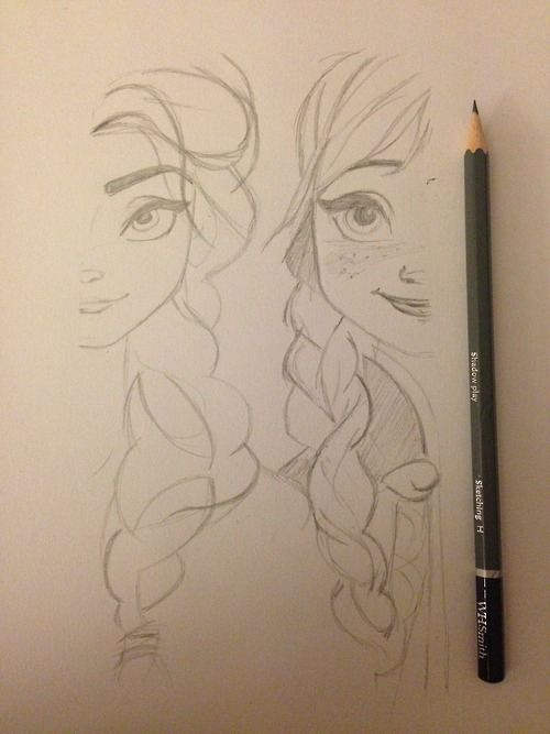 esa sketches frozen anna and sisters - photo #36