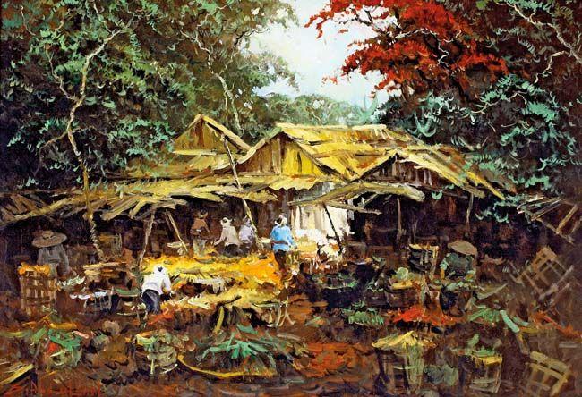 Sudjono Abdullah (Yogyakarta, 1911 – 1993), Pasar.