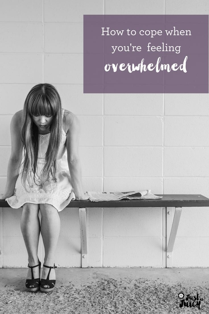 Some simple (and a couple of not so simple) ways to cope when you're feeling overwhelmed - www.justasjuicy.com  via @melkettle
