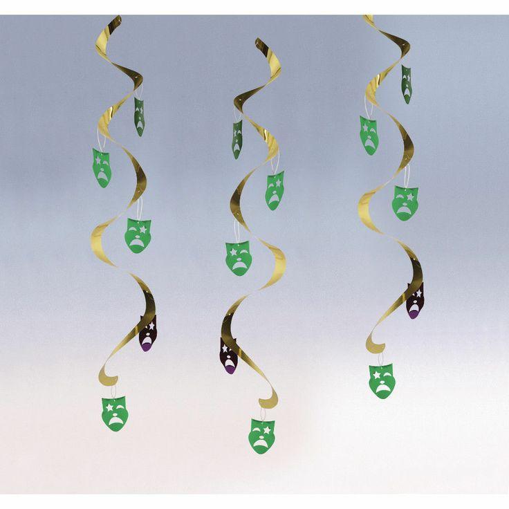 Hanging Decoration Dizzy Danglers Masks 5PK 20031210 Party Supplies Mardi Gras