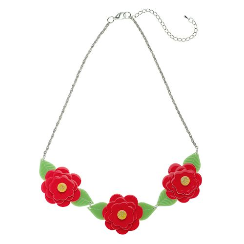 **VERY RARE, LAST ONE!** Limited edition Erstwilder Rosalita's Garden necklace by Louisa Camille. $39.95